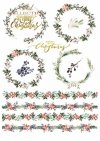 Papiery do scrapbookingu w zestawach - Wieniec adwentowy*Scrapbooking papers in sets - Advent wreath