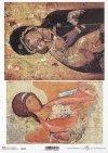 Papier ryżowy z ikonami - Madonna z dzieciątkiem * Rice paper with icons - Madonna and child