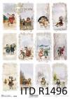 Boże Narodzenie, zimowe obrazki, dzieci, motywy na świeczki, butelki*Christmas, winter pictures, children, motifs for candles, bottles