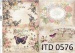 Decoupage paper ITD D0576