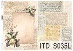 Papier decoupage SOFT ITD S0035L