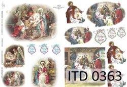 Papier decoupage ITD D0363