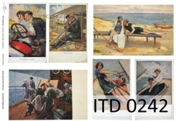 Papier decoupage ITD D0242