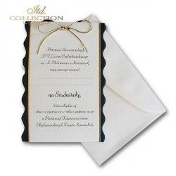 Zaproszenie studniówkowe ZS_0235_G z kopertą