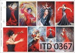 Papier decoupage ITD D0367M