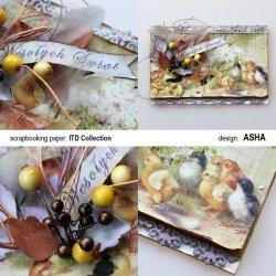 Kartka Wielkanocna z ptaszkami - praca Asha