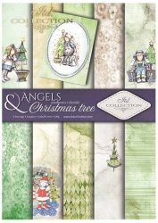 .Papier do scrapbookingu SCRAP-025 ''Angels & Christmas tree