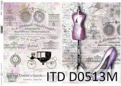 Papier decoupage ITD D0513M