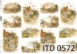 Papier decoupage ITD D0572