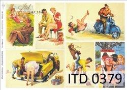 Papier decoupage ITD D0379