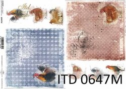 Papier decoupage ITD D0647M