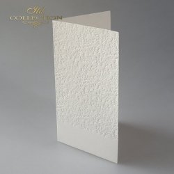 Baza do kartki BDK-025 - 185x107 mm * kremowa, tłoczone gałązki