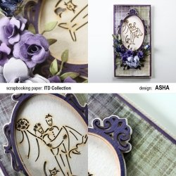 Kartka okolicznościowa Ślubne Życzenia - praca Asha