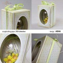 Ozdobne pudełko na wielkanocne jajo - Wiosenne Tchnienie - praca Asha