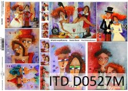 Papier decoupage ITD D0527M