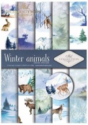 .Papier do scrapbookingu SCRAP-018 ''Winter animals''
