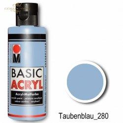 Farba akrylowa Basic Acryl 80 ml Taubenblau 280