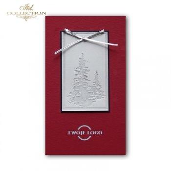 Рождественская и Новогодняя открытка K606