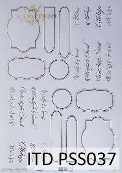 Специальная бумага для скрапбукинга HOT-Print * PSS037