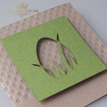 Пасхальная открытка с конвертом KW259