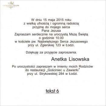 .text pro První Svaté Přijímání - TK6