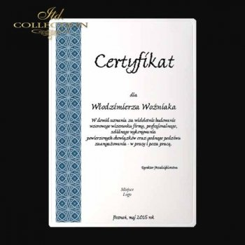 диплом DS0332 универсальный сертификат