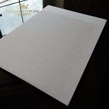.Papier do scrapbookingu kolor biały taktura falista A4 * PSS007