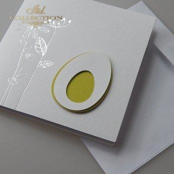 Пасхальная открытка с конвертом KW212