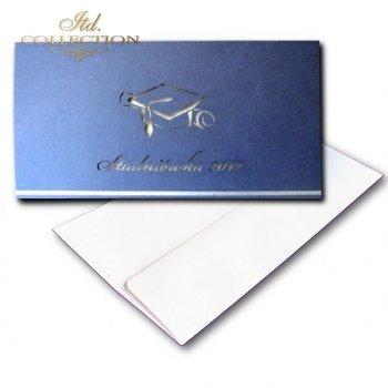 Zaproszenia  na studniówkę ZS_1643 z kopertą
