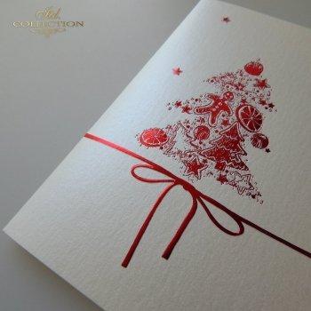 Рождественская и Новогодняя открытка K581