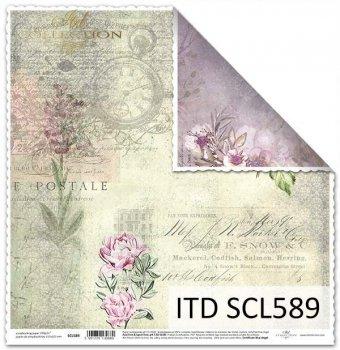 Бумага для скрапбукинга SCL589