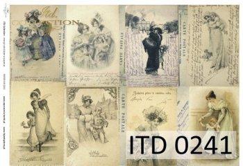 бумага для декупажа классическая D0241