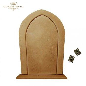 HDF008 плита * МДФ большая заостренная дверь. Декупаж. 28,5 см х 20 см