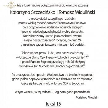 .text pro svatební oznámení - TS15