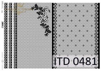 бумага для декупажа классическая D0481