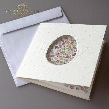 Пасхальная открытка с конвертом KW228