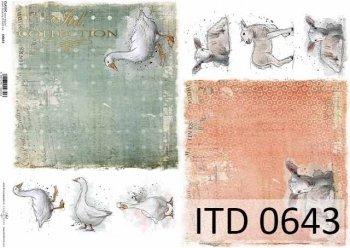 бумага для декупажа классическая D0643
