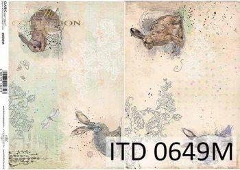 бумага для декупажа классическая D0649M