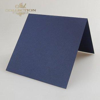 Заготовки для открыток BDK-011 темно-синий цвет