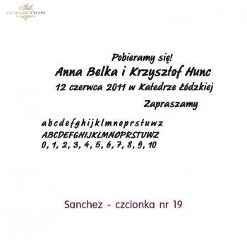 Czcionka na zaproszenie 19