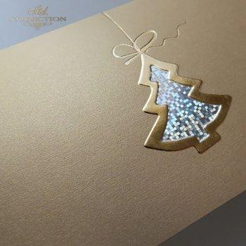 Рождественская и Новогодняя открытка K596