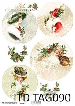 бумага для новогодних и рождественских шаров TAG0090
