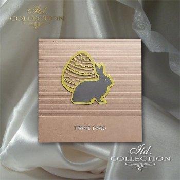 Пасхальная открытка с конвертом KW245