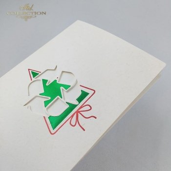 Рождественская и Новогодняя открытка K217