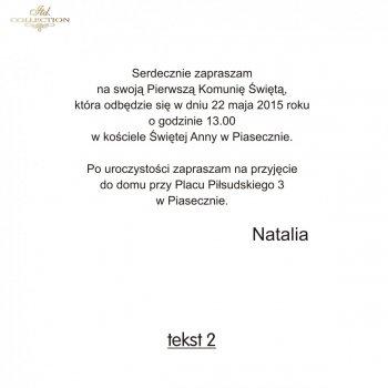 .text pro První Svaté Přijímání - TK2