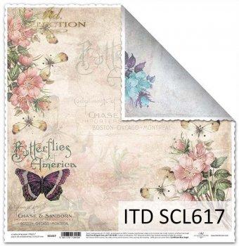 Бумага для скрапбукинга SCL617