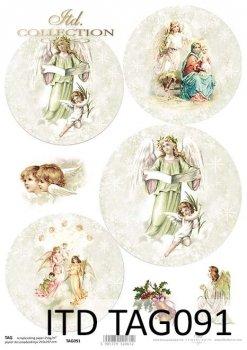 бумага для новогодних и рождественских шаров TAG0091