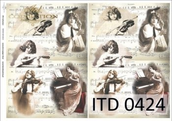 бумага для декупажа классическая D0424M