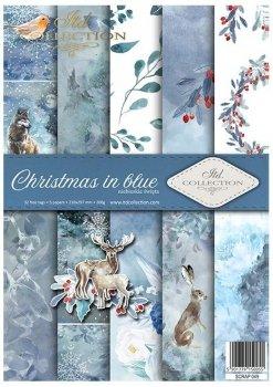 Скрапбукинг бумаги SCRAP-049 ''Рождество в синем''