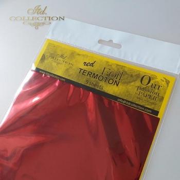 Metallische Folie Termoton - Rot
